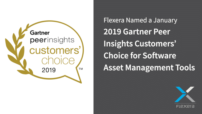 2019 Gartner Peer Insights Customers' Choice for Software Asset Management Tools